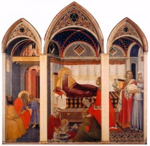 Пьетро Лоренцетти. Рождество Марии. 1342
