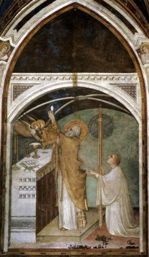 Мартини Симоне. Чудотворная месса св. Мартина. 1320-1325