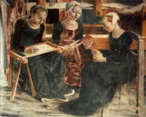Франческо дель Косса. Триумф Минервы. Аллегория месяца Марта (фрагмент). 1476-1484