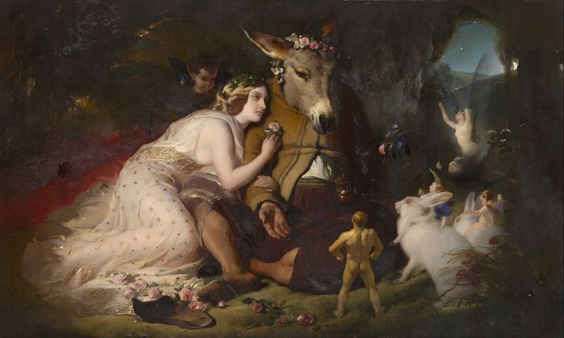 Edwin Landseer. A Midsummer Night's Dream. Titania and Bottom. 1851