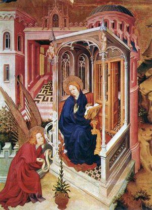 2. Мельхиор Брудерлам. Благовещение. 1393- 1399