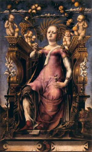 3. Микеле да Паннонио. Муза Талия. 1450 – 1460