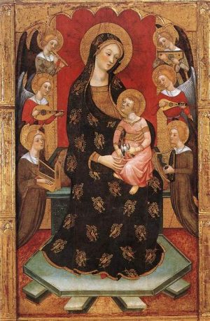 5. Педро Серра. Мадонна с музицирующими ангелами. 1390