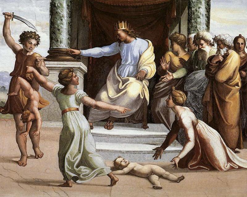 Рафаэль Санти (1483-1520). Суд Соломона