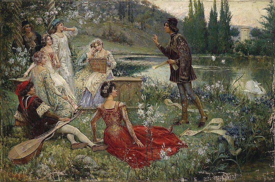 Salvatore Postiglione. Scena del Decamerone. 1906