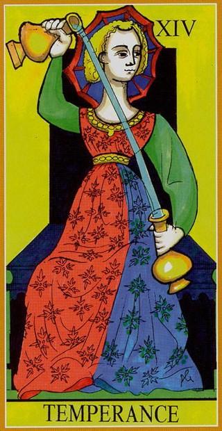 Dame Fortune's Wheel Tarot. XIV. Умеренность. Вектор недели 11.05-17.05.2020