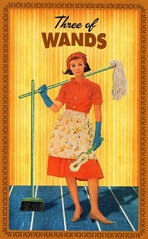 Housewives Tarot - Three of Wands