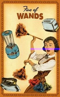 Housewives Tarot. Пятерка жезлов. Вектор недели 15.04-21.04.2019