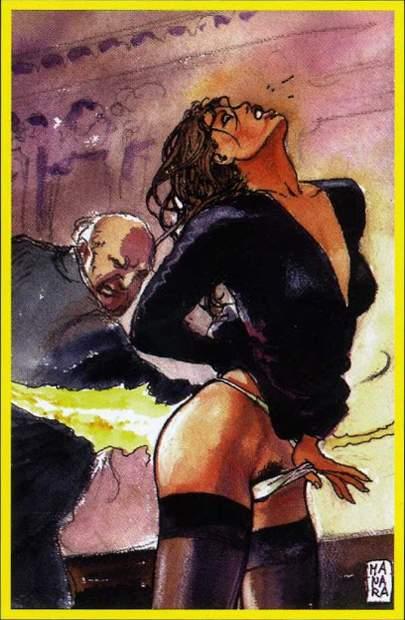 XII Наказание. Жребий недели. Erotic Tarot of Manara