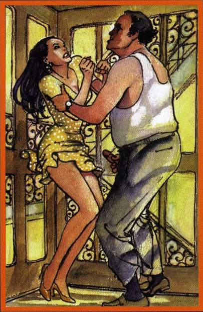 Erotic Tarot of Manara. Десятка Огня. Второе полнолуние марта