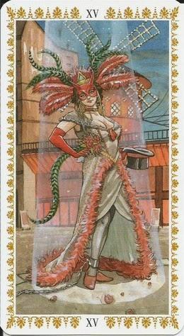 Пятница, день Венеры. 6.11.2020. XV. Дьявол. Romantic Tarot
