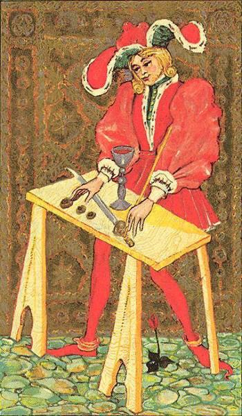 Старший Аркан Маг Medieval Scapini Tarot. Жребий недели с 15.10 по 22.10.2017