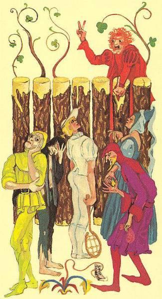 Новолуние в Овне и Семерка Жезлов Medieval Scapini Tarot
