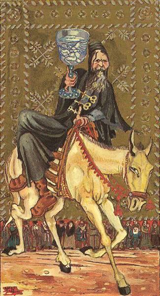 Рыцарь Кубков Medieval Scapini Tarot. Жребий недели